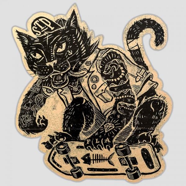 Punk Skate-Cat